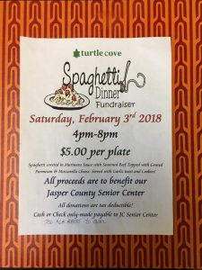 Senior Center Fundraiser @ Turtle Cove Clubhouse Dining Room
